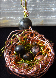 Picture of Faery Dreams  Bird Nest Pendant