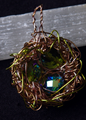 Picture of Green Goddess Bird Nest Pendant