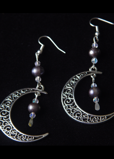 Picture of New Moon Silver Earrings