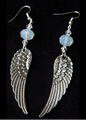 Picture of White Light Archangel Wings Earrings