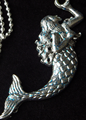 Picture of Shimmering Mermaid with Blue Bubble Necklace