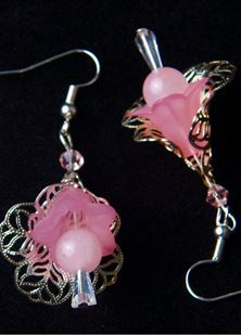Picture of Filigree Silver Flower Earrings