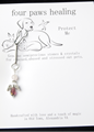 Picture of Pet Amulet Violet Angel with Rose Quartz