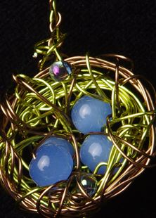 Picture of Blue Heron Enchanted Nest  Pendant