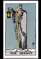 Picture of The Hermit Tarot Card Pendant