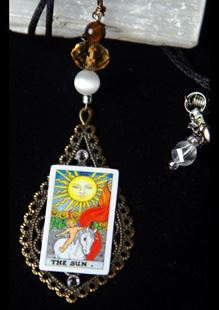 Picture of The Sun Tarot Card Pendant