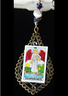 Picture of Temperance Tarot Card Pendant