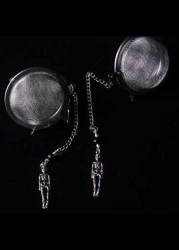 Picture of Silver Skeleton Tea Infuser Set for Two
