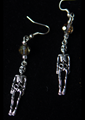 Picture of Silver Skeleton with Czech Crystal Glass Earrings