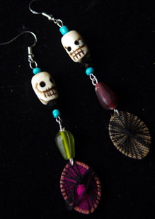 Picture of Dia de Los Muertos Fiesta Earrings