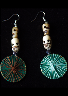 Picture of Day of the Dead Skull Fiesta Earrings