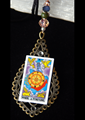 Picture of Wheel of Fortune Tarot Card Pendant