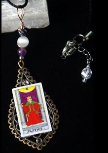 Picture of The Justice Tarot Card Pendant