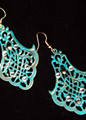 Picture of Antique Blue Green Patina Earrings
