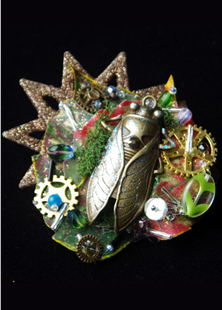 Picture of Steampunk Cicada Brooch