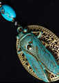 Picture of Verde Green Cicada with Turquoise Pendant