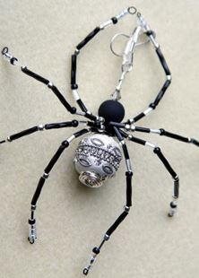 Picture of Shimmering Beaded Spider Talisman #1