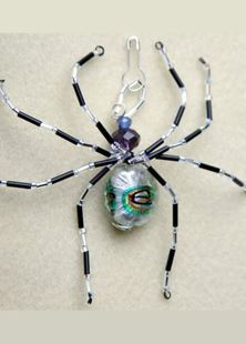 Picture of Art Glass Beaded Spider Talisman #2