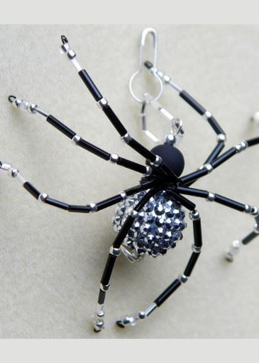 Picture of Shimmering Rhinestone Beaded Spider #3