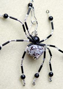 Picture of Lampwork Beaded Spider Talisman #4