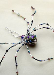 Picture of Mama Long Legs Beaded Spider Talisman #9
