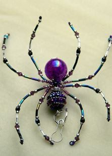 Picture of Purple Haze Beaded Spider Talisman #8
