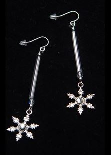 Picture of Let it Snow Silver Earrings